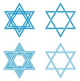 Blue Star of David vector illustration