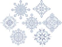 Blue star decoration collection Stock Image