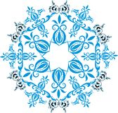 Blue star decoration illustration Stock Photos