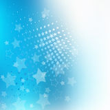 Blue star design background Stock Images