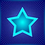 Blue star - digital design Royalty Free Stock Image