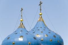 Blue star domes Royalty Free Stock Photo