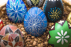 Blue star Easter egg Royalty Free Stock Photos