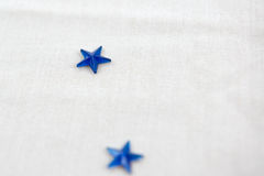 Blue Star Embellishment. For crafts on white cloth Royalty Free Stock Photos