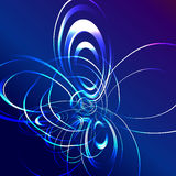 Blue star flash abstract background Stock Photos