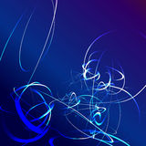 Blue star flash abstract background Royalty Free Stock Photo
