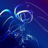 Blue star flash abstract background Royalty Free Stock Photography