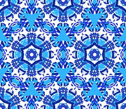 Blue Star Flower Kaleidoscope Background. Kaleidoscope Flower Pattern. Seamless blue background. Mandala geometric graphic print. Psychedelic design element for Stock Images