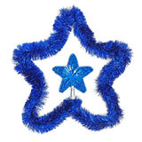 Blue star and garland Royalty Free Stock Photos