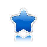 Blue star icon Royalty Free Stock Image