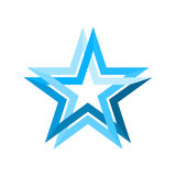 Blue star infinite loop Royalty Free Stock Image