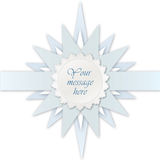 Blue star label. Greeting card for kid bithday or  Royalty Free Stock Images