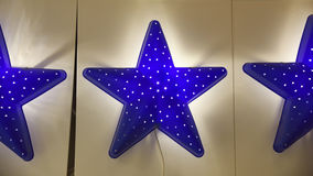 Blue star lamps for house interior Royalty Free Stock Photos
