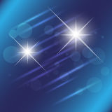 Blue star light effect background Stock Images