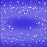 Blue star map, the Milky Way Stock Image