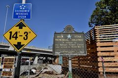 Blue Star Memorial Highway Eisenhower Interstate System San Francisco. It was recognized by 1916 and WW1 that a national network of highways was needed for use stock images
