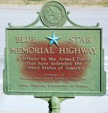 Kansas State ,blue star on the road Stock Photography
