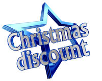 Blue Star New Years discount with the text on a white background. Closeup vector illustration