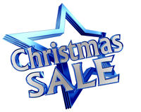 Blue Star New Years sale with the text on a white background. Closeup vector illustration