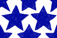 Blue Star Pattern. A blue star pattern that is continuous Stock Image