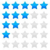 Blue star rating vector graphic. Editable Star rating template in blue color vector illustration