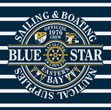 Blue Star sailing & boating Royalty Free Stock Photos