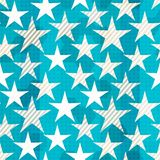 Blue star seamless Stock Photography