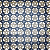 Blue Star Seamless Pattern Stock Photography