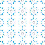 Blue star seamless pattern Stock Image