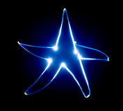 Blue star. Stock Photos