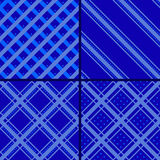 Blue star striped pattern Royalty Free Stock Image