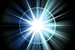 Blue Star Sunburst Abstract Stock Image