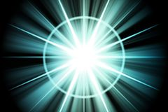 Blue Star Sunburst Abstract Royalty Free Stock Photos