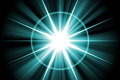 Blue Star Sunburst Abstract Royalty Free Stock Photo