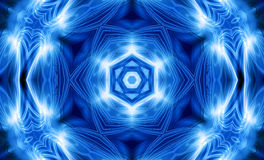 Blue star symbol mandala background Stock Images