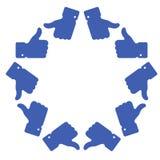 Blue star thumb up icon. Vector illustration stock illustration