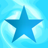Blue star vector background. Blue abstract star on wavy background. Vector illustration Royalty Free Stock Images