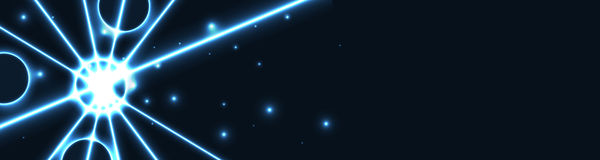 The blue star web banner Royalty Free Stock Images