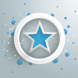 Blue Star White Ring Blue Bubbles PiAd Stock Image