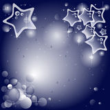 Blue Star wishing card. Blue star in a bright background for wishes Royalty Free Stock Photography