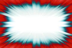 Blue starburst explosion border Royalty Free Stock Image