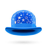 Blue starred bowler hat Stock Photography