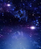 Blue starry background Stock Images