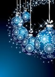 Blue starry balls Stock Images