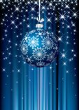 Blue starry Christmas Stock Images