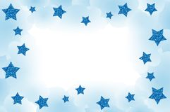 Blue Starry Frame. Starry frame, with clouds and space for your text Royalty Free Stock Images