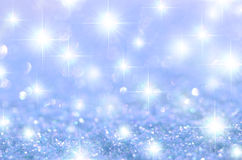 Blue Starry Sparkle Background Stock Photo
