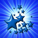 Blue stars Royalty Free Stock Images