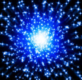 Blue Stars. Background blue stars exploding out from centre with motion blur vector illustration