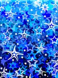 Blue stars. Abstract blue different stars background vector illustration